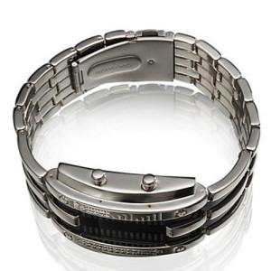 Светодиодные бинарные часы со стальным браслетом